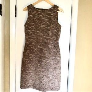 Banana Republic gold shimmer sleeveless dress
